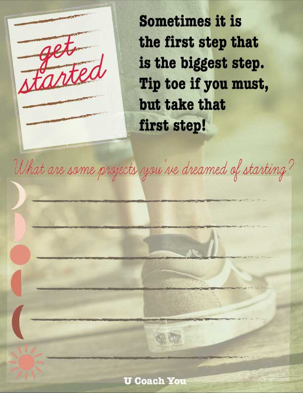 Sometimes it is the first step that is the biggest step.
