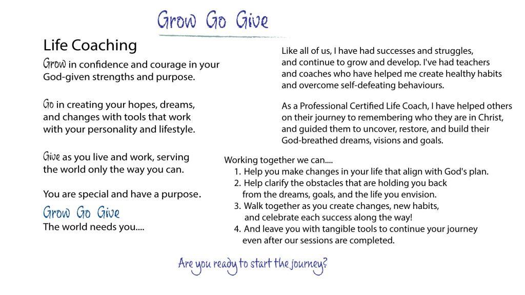 Grow, Go, Give